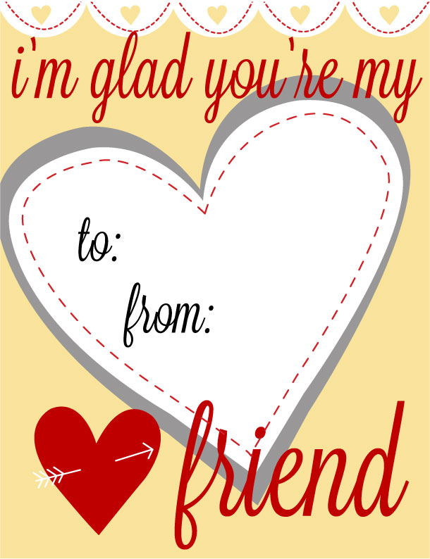 Printable Kids Valentines Day Cards 11